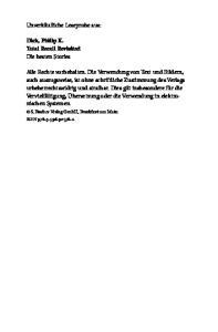 Unverkäufliche Leseprobe aus: Dick, Philip K. Total Recall Revisited Die besten Stories