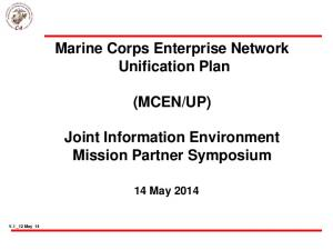 UP) Joint Information Environment Mission Partner Symposium