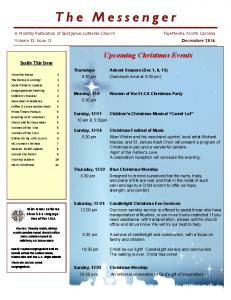 Upcoming Christmas Events Inside This Issue