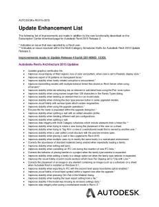 Update Enhancement List