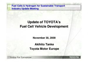 Update of TOYOTA s Fuel Cell Vehicle Development