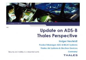 Update on ADS-B Thales Perspective