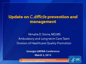 Update on C. difficile prevention and management