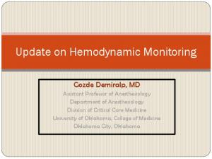 Update on Hemodynamic Monitoring