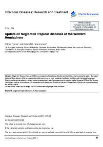 Update on Neglected Tropical Diseases of the Western Hemisphere
