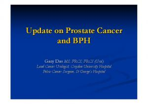 Update on Prostate Cancer and BPH