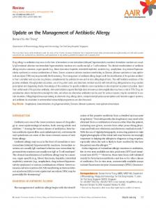 Update on the Management of Antibiotic Allergy