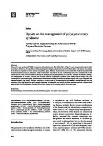 Update on the management of polycystic ovary syndrome