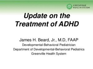 Update on the Treatment of ADHD