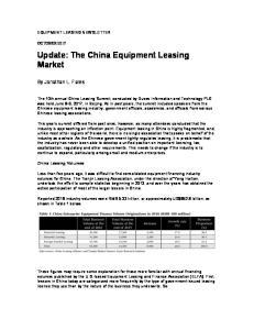 Update: The China Equipment Leasing Market