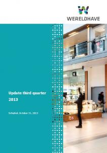 Update third quarter 2013