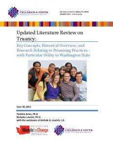 Updated Literature Review on Truancy: