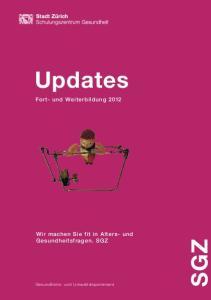 Updates Fort- und Weiterbildung 2012