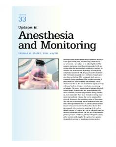 Updates in Anesthesia and Monitoring