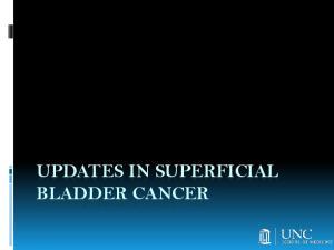 UPDATES IN SUPERFICIAL BLADDER CANCER