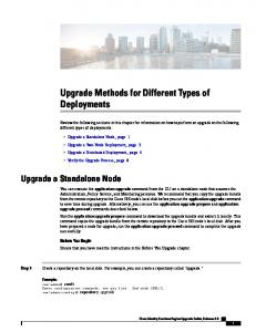Upgrade Methods for Different Types of Deployments