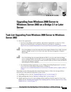 Upgrading from Windows 2000 Server to Windows Server 2003 on a Bridge 3.1 or Later Server