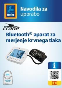 uporabo Bluetooth aparat za merjenje krvnega tlaka User-friendly Manual ID: #05007