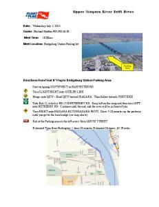 Upper Niagara River Drift Dives