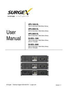 UPS-1500-OL 1500 VA Stand Alone Online Battery Backup. UPS-2000-OL 2000 VA Stand Alone Online Battery Backup