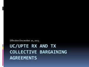 UPTE RX AND TX COLLECTIVE BARGAINING AGREEMENTS