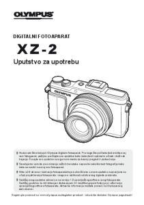 Uputstvo za upotrebu DIGITALNI FOTOAPARAT XZ-2