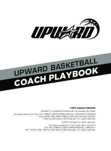 UPWARD BASKETBALL COACH PLAYBOOK