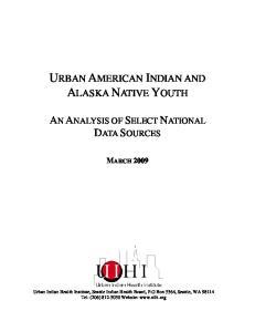 URBAN AMERICAN INDIAN AND ALASKA NATIVE YOUTH