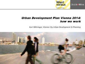 Urban Development Plan Vienna 2014: how we work