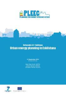Urban energy planning in Eskilstuna