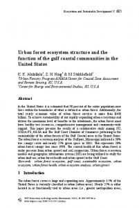 Urban forest ecosystem structure and the function of the gulf coastal communities in the United States