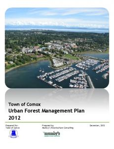 Urban Forest Management Plan 2012