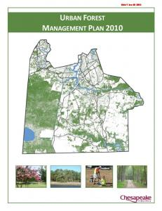 URBAN FOREST MANAGEMENT PLAN DRAFT Jan