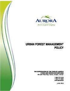 URBAN FOREST MANAGEMENT POLICY