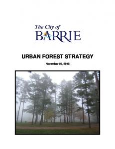 URBAN FOREST STRATEGY. November 25, 2013