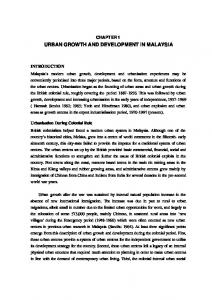 URBAN GROWTH AND DEVELOPMENT IN MALAYSIA