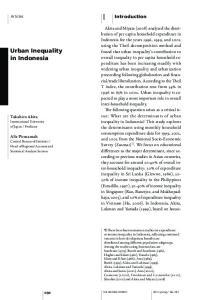 Urban Inequality in Indonesia