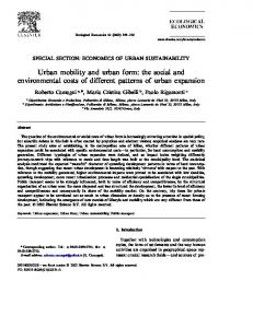 Urban mobility and urban form: the social and environmental costs of different patterns of urban expansion