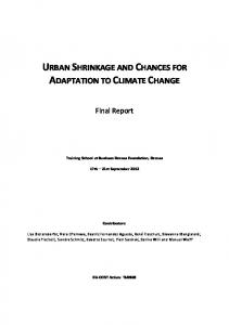 URBAN SHRINKAGE AND CHANCES FOR ADAPTATION TO CLIMATE CHANGE