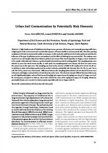 Urban Soil Contamination by Potentially Risk Elements