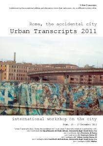 Urban Transcripts 2011