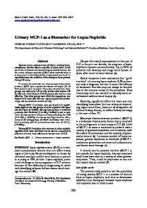 Urinary MCP-1 as a Biomarker for Lupus Nephritis