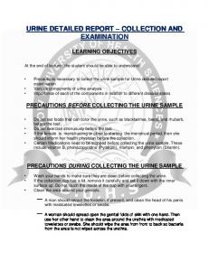 URINE DETAILED REPORT COLLECTION AND EXAMINATION