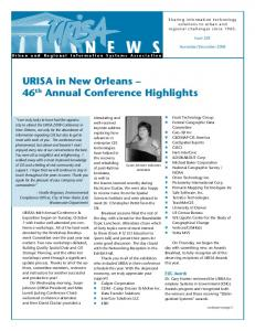 URISA in New Orleans 46 th Annual Conference Highlights