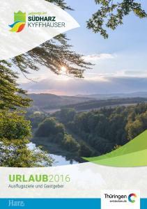 URLAUB2016 Ausflugsziele und Gastgeber