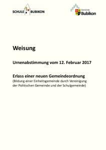 Urnenabstimmung vom 12. Februar 2017