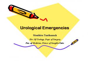 Urological Emergencies