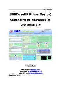 URPD (your Primer Design)