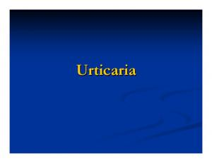 Urticaria: Basic Facts