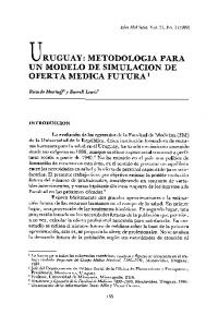 URUGUAY: METODOLOGIA PARA